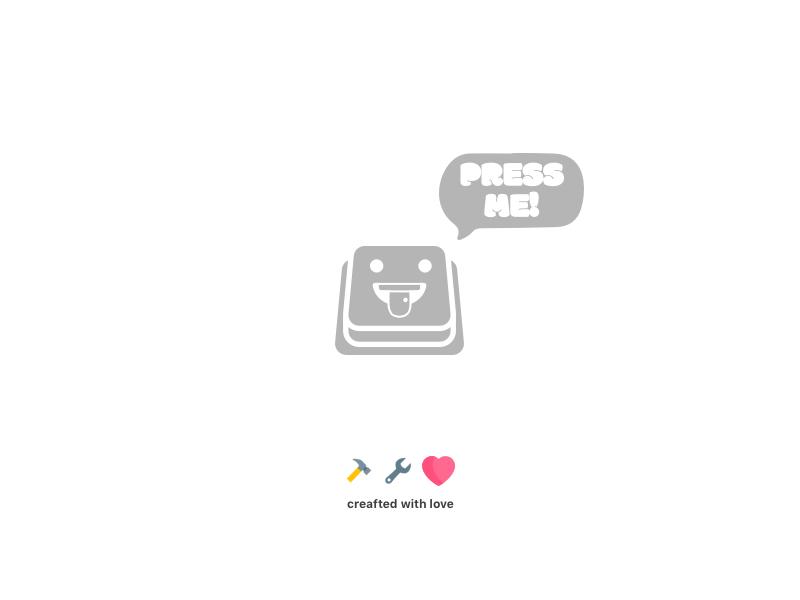 Can someone press it? Please... 🚨😛 happy button icons design illustration icon