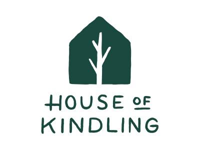 House of Kindling illustration lettering logo design identity design brand logo