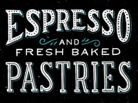 espresso and fresh baked pastries