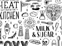 restaurant and cafe illustration