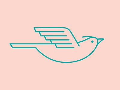 Lark icon logo graphic icon bird lark