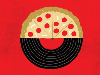 Pizza Vinyl Night