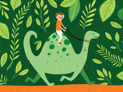 Dino Ride illustration dinosaur