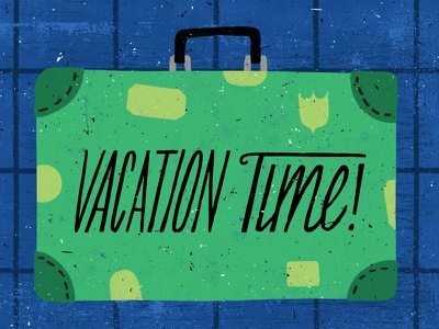 Vacation lettering adventure travel vintage suitcase suitcase vacation illustration