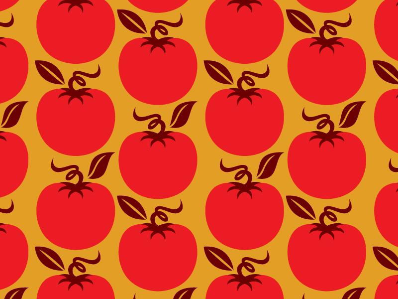Tomato Pattern repeat vegetable pattern tomato