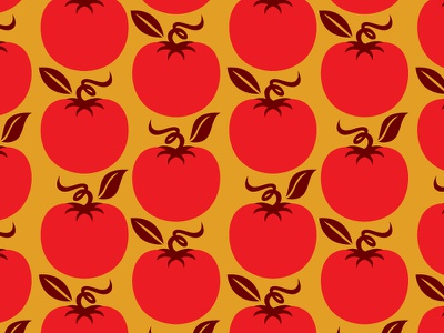 Tomato Pattern repeat vegetable pattern tomato