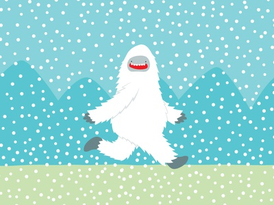 Yeti Stroll winter coffee yeti illustration