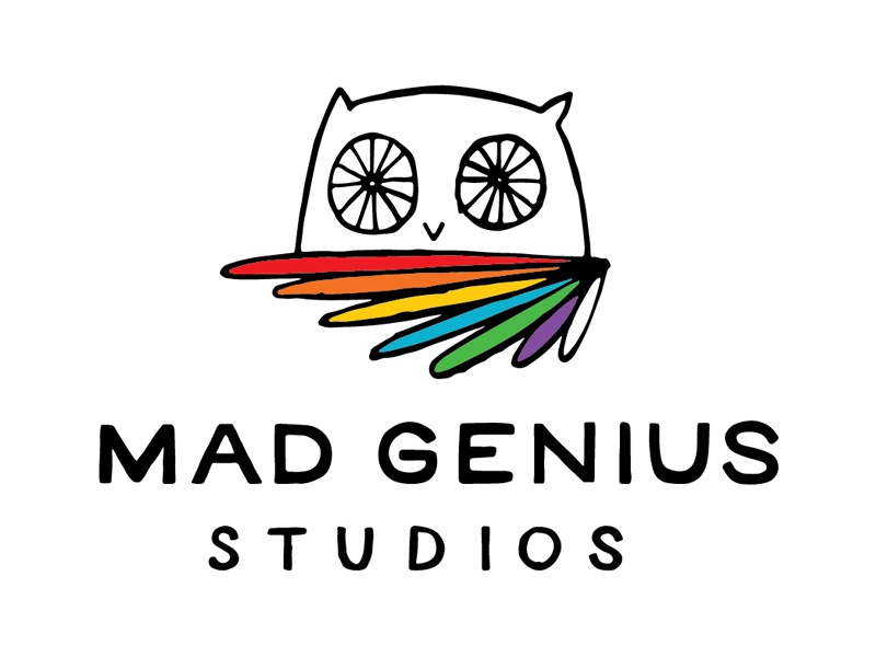Mad Genius Logo art owl illustration branding logo