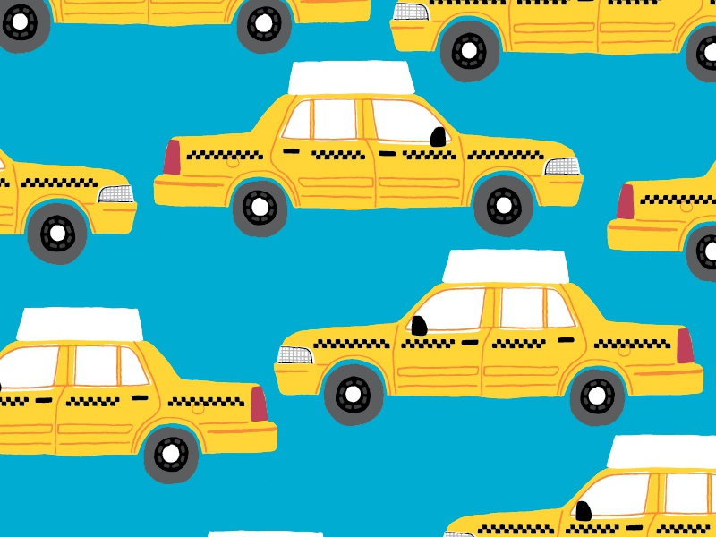 Taxi city pattern editorial taxi illustration