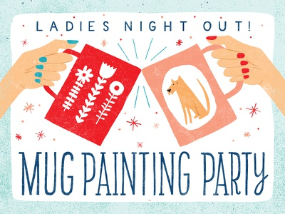 Ladies Night Out ladies night out lettering design illustration