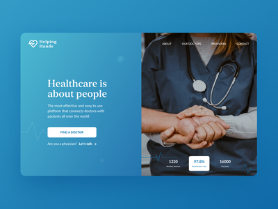 Day 17 of #30daysofwebdesign challenge daily medical healthcare landing 30daysofwebdesign concept landing page figmadesign daily ui webdesigner webdesign hero section figma ux ui