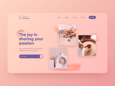 Day 20 of #30daysofwebdesign gradient eye candy ux design web design unsplash hobby collaboration figmadesign landing page daily ui 30daysofwebdesign concept challenge webdesigner webdesign hero section figma ux ui