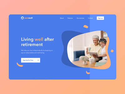 Day 21 of #30daysofwebdesign daily ui daily instagram web design hero images hero image blue cta ux design 30daysofwebdesign landing page figmadesign figma challenge concept webdesign webdesigner hero section ux ui