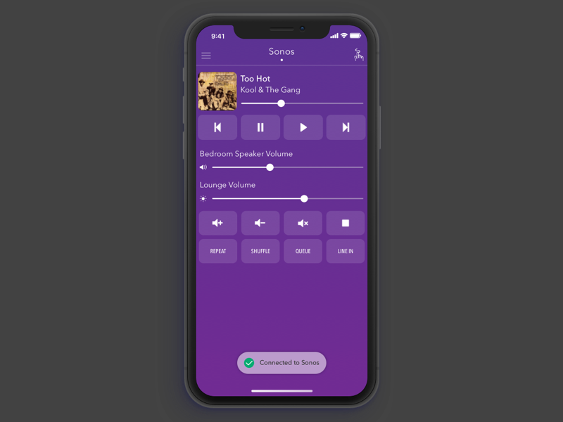 AnyMote: iPhone X connection status iphone x universal remote remote control ux ui sketch ios app anymote