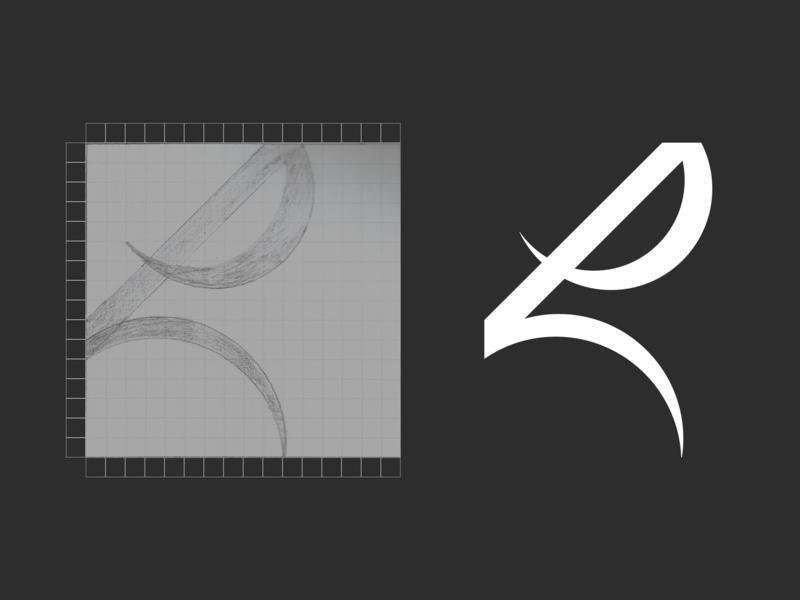 Lettermark mark lettermarkexploration drawing sketch app logo design