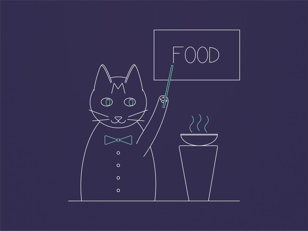 Monoline illustration design cat art teacher cat illustration monoline illustrator