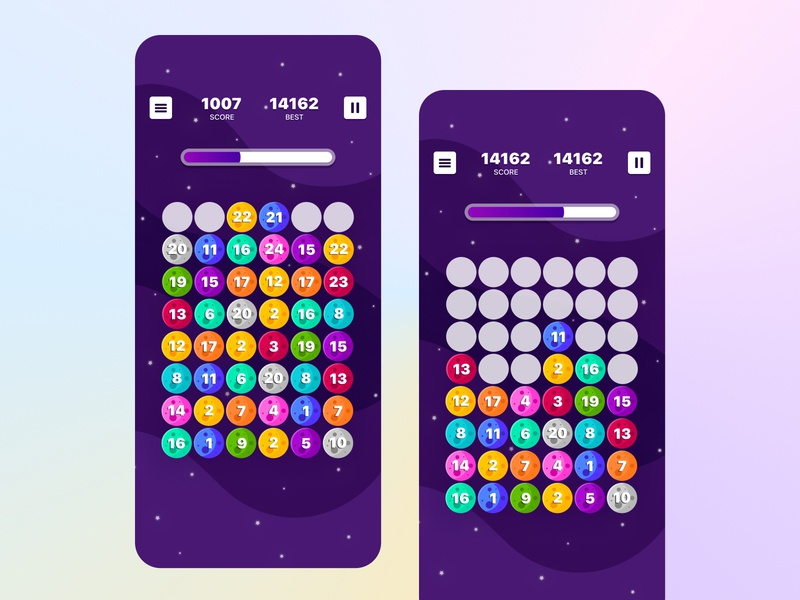 Space Fusion moon space ui game design app game