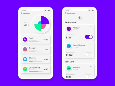 Expense Tracking App UI ux ui design expense graphic finance neumorphism neumorphic ui userinterface app design
