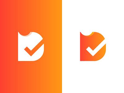 Darelist logodesign dare checkmark logotype list d letter brand identity branding logo design logo