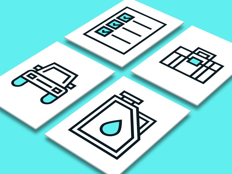 Car Repair icons vector ui line pictogram iconography icons repair car app