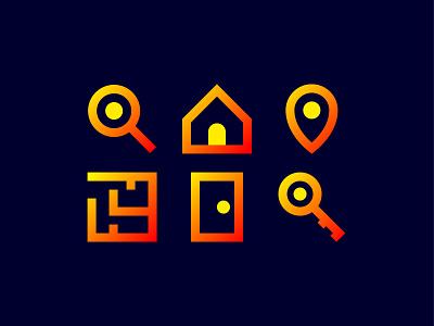 Real estate iconset real estate logo real estate realestate icon set icon design iconography icon icons