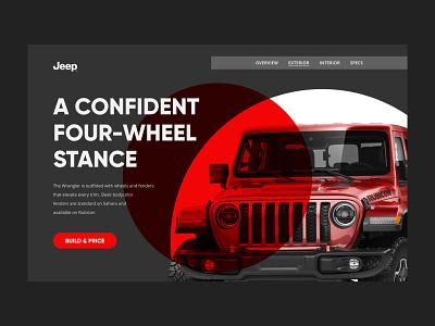 Wrangler Rubicon Reimagined car landing page design jeep reimagine uiux user interface webdesign