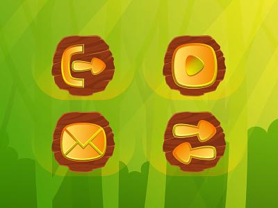 game iconset design design vector village jungle adventure iconset iconography game icons icon design icon