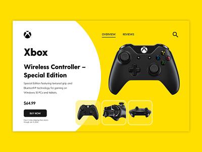 Xbox Controller UI ui design uiuxdesign item page design game xbox uidesign uiux ui