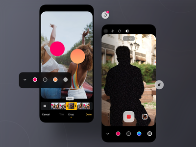 Identity Protection App Concept filters recording digital camera sketch privacy video edit cropping face recognition interaction interface prototype product design design ux user interface user experience ui app design app