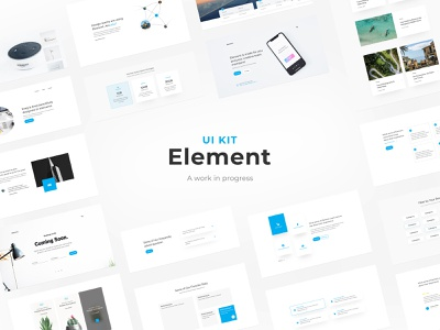 Element   UI KIT progress process comingsoon product design web deisgn digital ux kit design minimal inprogress uikit graphic design desktop user experience web clean design ui user interface interface