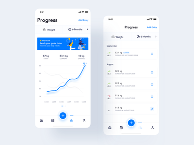 Fitness Tracker App typography shadow user interface designer android fitness app fitness popular app best designers interface graphic design digital product design clean ux user interface user experience minimal design ui apple