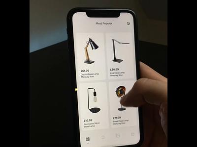 Work Space App👨💻 lamp camera ios testing app design augmentedreality animation prototype apple product design design clean ux user interface user experience ui