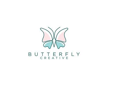butterfly illustration line art branding butterfly logo
