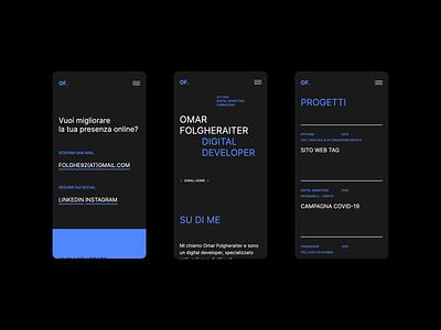 OF - Digital Developer / Responsive developer dark design type website user interface uiux ui responsive design typography digital
