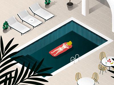 Summer Relax wallpaper bikini hot water woman girl swimming pool swim summer