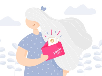Dribbble Invites girl illustration giveaway invitation dribbble invite