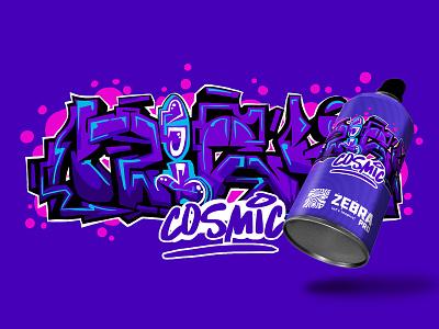 Zebra Pro Packaging Illustration graffiti art graffiti spray paint spray can art illustration typography logotype logo design branding brand identity