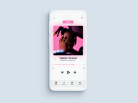 Music App - Now Playing (Mockup)