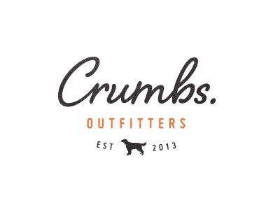 Crumbs identity dog logo