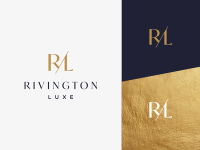 Logo design for Rivington Luxe initials luxe luxury lettering logo