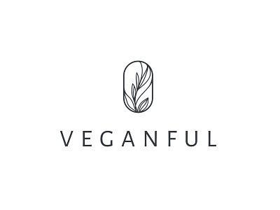 Loog design for Veganful healthy plants leaves food vegan logo