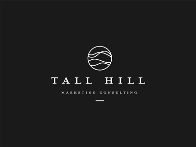 Logo design for Tall Hill strategy agency consulting marketing hill tall icon logo
