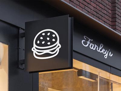 Logo design for Farley's Restaurant logodesign sandwich food burger fast food restaurant logo