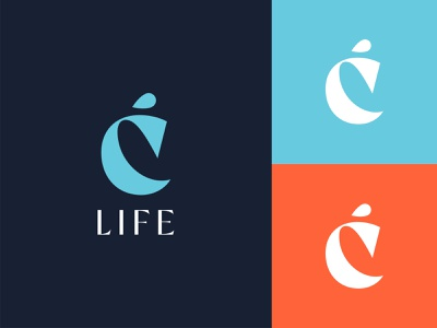 Logo design for C Life drive water wave ocean energy life sea life remedies plants cannabis startup logo