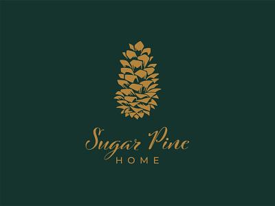 Logo design for Sugar Pine Home lixury design furnishing interior home pinecone sugar logo