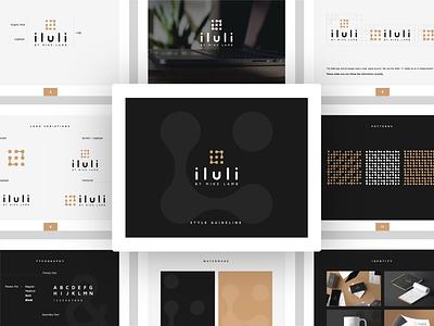 Logo & Style Guideline for iluli blog tech style sheet branding styleguide brand identity