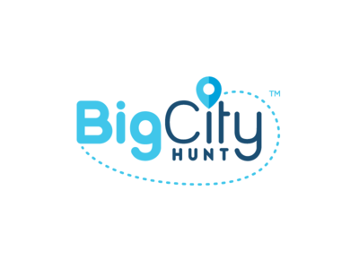 Big City Hunt adventure activity hunt explore fun pin icon logo design