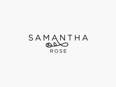 Logo design for Samantha Rose floral nature florists flower rose logo design