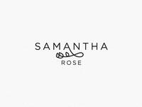 Logo design for Samantha Rose