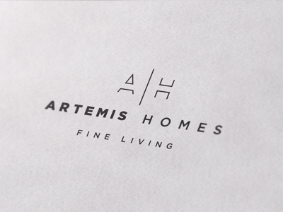 Logo design for Artemis Homes fine living ah home builders simple real estate luxury house home